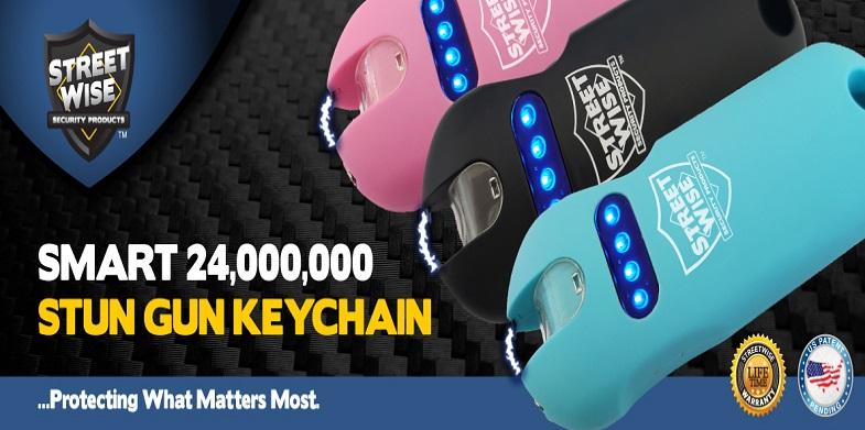 Smart 24,000,000 Stun Gun Keychain Streetwise - Guerrilla Defense