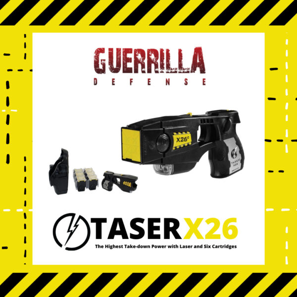 TASER X26 with Laser and 6 Cartridges
