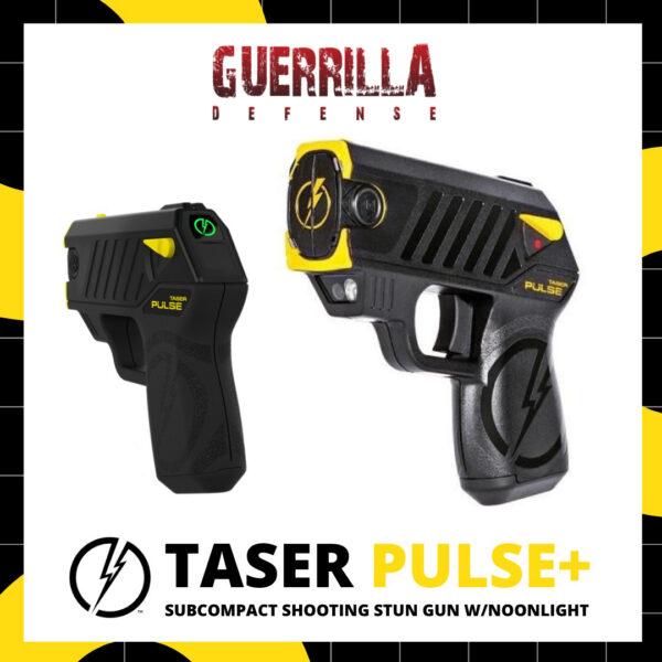 TASER Pulse+ Subcompact Shooting Stun Gun w/Noonlight