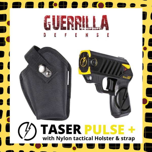 Taser Pulse+ with Nylon tactical Holster and Strap