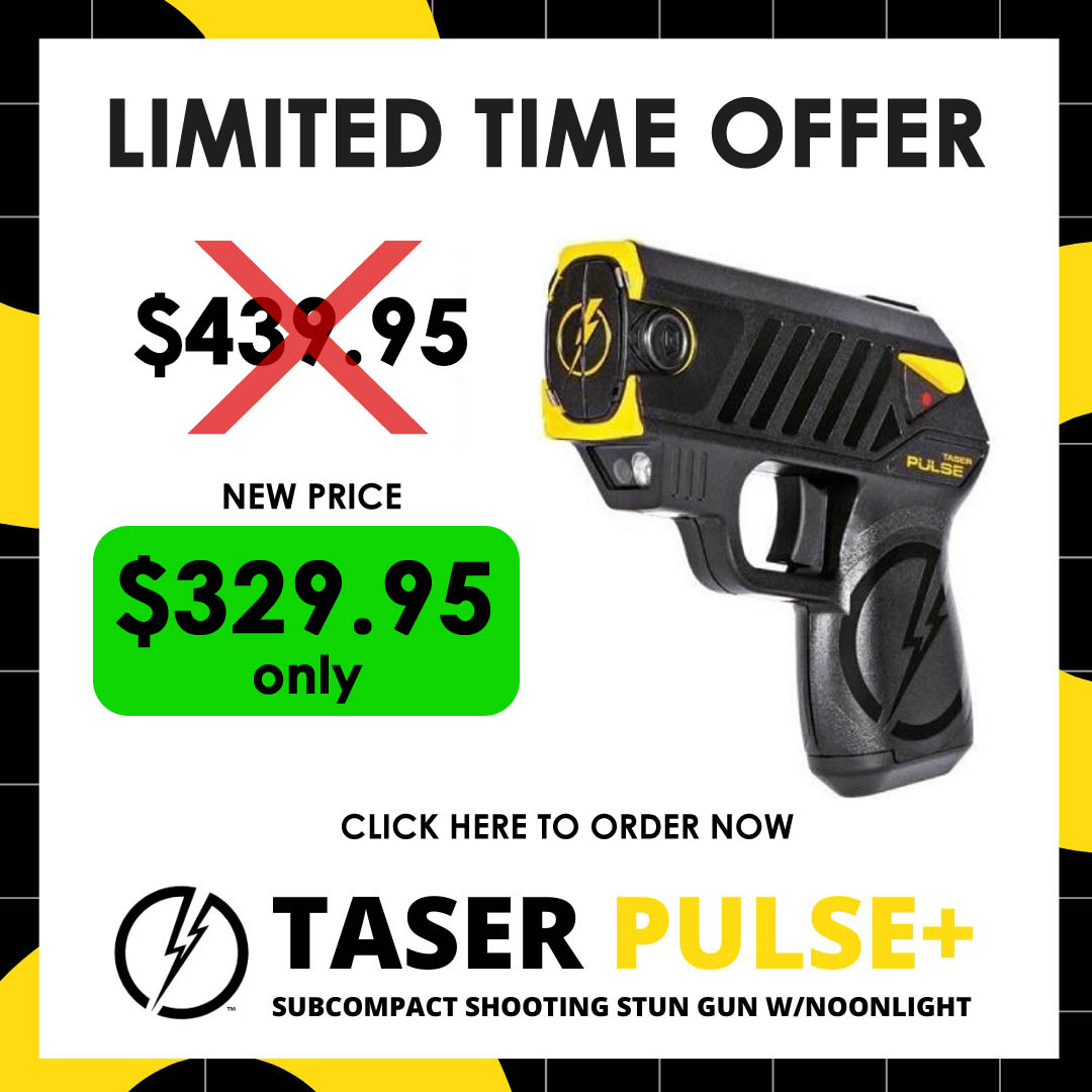 Taser Pulse Subcompact Shooting Limited Time Offer $329 only